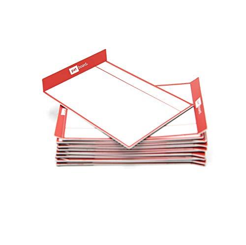 PATboard Lavagne di Scrum e Lavagne di Kanban TASKcards - Magnetico - Set di 16 Carte Rossi