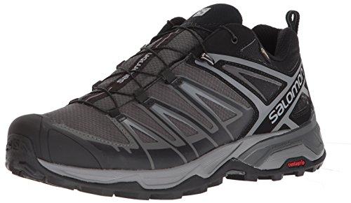 Salomon X Ultra 3 GTX, Zapatillas de Senderismo para Hombre, Negro (Black/Magnet/Quiet Shade), 43 1/3 EU