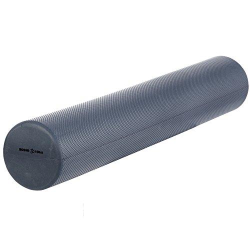 Faszien-Rolle, 90 cm lang, Pilates-Rolle, Ø 15 cm, Faszien Rolle, silber-grau/anthrazit, professionelles Standard-Trainingsgerät für Pilats- und Faszien-Training, Fitness-Training