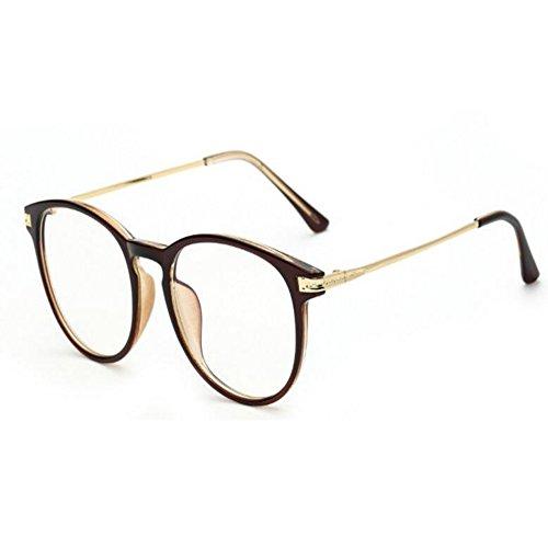 Hzjundasi Blaues Licht Filter Computer Brille Anti Strahlung UV Klare Linse Vintage Runden Schutzbrille Männer/Frauen