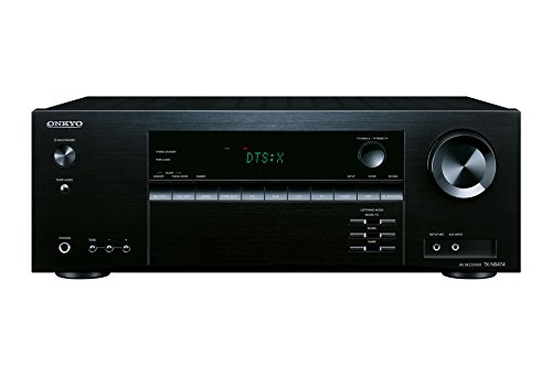 Onkyo TX-NR474(B) 5.1 Kanal AV Receiver (135 W/Kanal, Multiroom, Heimkino, Dolby/DTS:X, WLAN, Bluetooth, Streaming, Musik Apps, Spotify, Tidal, Deezer, Radio, USB/HDMI/Audio in), Schwarz
