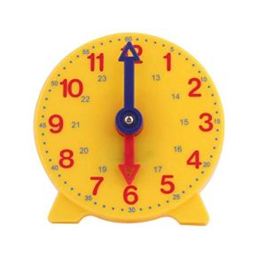 STOBOK Reloj de Aprendizaje Children Teaching Clock Desktop Modelo Educación temprana Juguetes para niños Niños