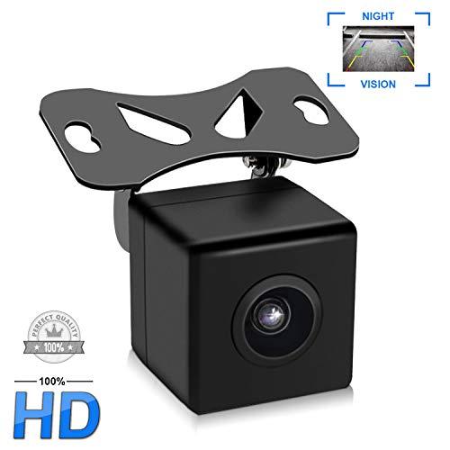 Telecamera per Retromarcia Auto,Park Assist per Auto Uzone con Visione Notturna IP67 Impermeabile visuale grandangolare per camper RV Caravan Trailer di Traino