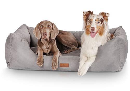Knuffelwuff Hundebett XL Hundekissen Hundesofa Hundekorb waschbar Dreamline Grau