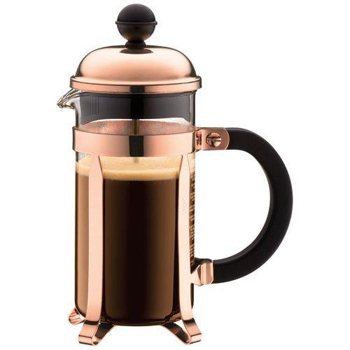 Bodum, Caffettiera alla francese, in rame e vetro borosilicato, 0,35 litri, modello Chambord, per...