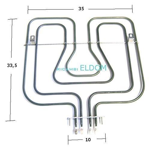 RESISTENZA FORNO SUPERIORE REX ELECTROLUX 800+1650W 230V MODELLI CMC60 , EKM67 ,