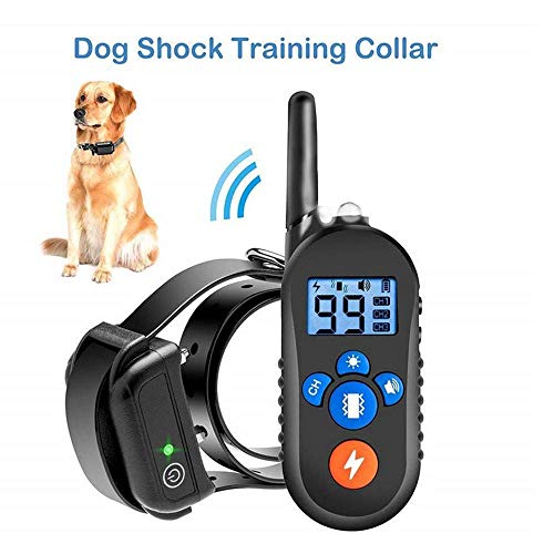 Serios Waterproof Dog Training Collar, Rechargeable Electric Dog Shock Collar with 3 Training Modes, Beep, Vibration and Shock, 2500Fts Remote Range (for One Dog, AUS Plug)