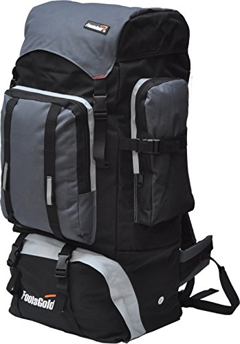 foolsGold Extra Large Hiking Travel Backpack Camping Rucksack Top and Bottom  Loading - SixtySomething - Over Sixty Lifestyle Magazine 43c690f4bfd9a
