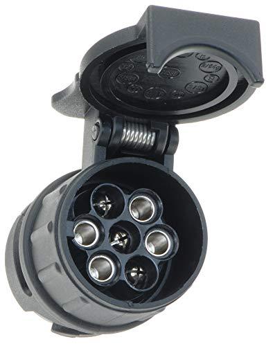 valonic Anhänger Adapter 13 auf 7 polig Auto zu Hänger, Pkw, Kfz und LKW, kurz, schwarz, Anhängerkupplung, Adapterstück