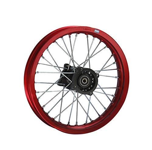 Hmparts Cerchio Alluminio Anodizzato 14 Pollici Posteriore Rosso 12 mm Typ2 Pit Bike Dirt Bike Cross