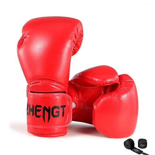 TTXLY Guanti Boxe retrò in Tinta Unita 10 oz 12 oz Adulto Muay Thai Allenamento in Pelle PU...