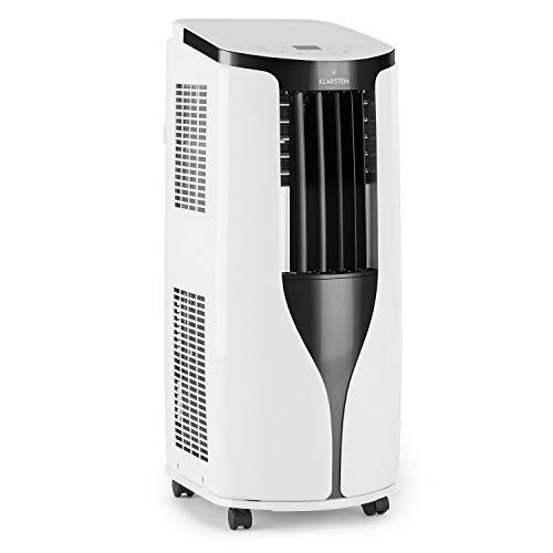 KLARSTEIN New Breeze ECO - Climatiseur Mobile, Refroidisseur d'air, 935W, 10000 BTU/h, 64dB Max, 4 Modes, lamelles à débit réglable, 16°C-30°C, Télécommande, Classe énergétique A+, Blanc