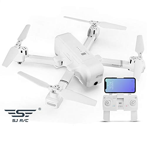 Faironly Z5 5G WiFi FPV con 1080P Fotocamera Doppio GPS dinamico Follow RC Drone quadricottero White 720p
