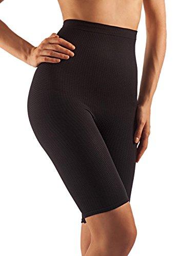 Farmacell 113 (Nero, M/L) Short vita alta guaina massaggiante dimagrante calzoncino Anti Cellulite
