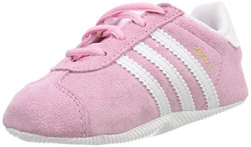 adidas Gazelle Crib, Sneaker Unisex Bimbo, Rosa True Pink/Ftwr White/Gold Met, 19 EU