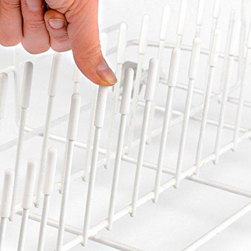 Le ORIGINALI Punte per Cestello Lavastoviglie della Smith (Set da 100, Colore: Bianco, Materiale PVC...