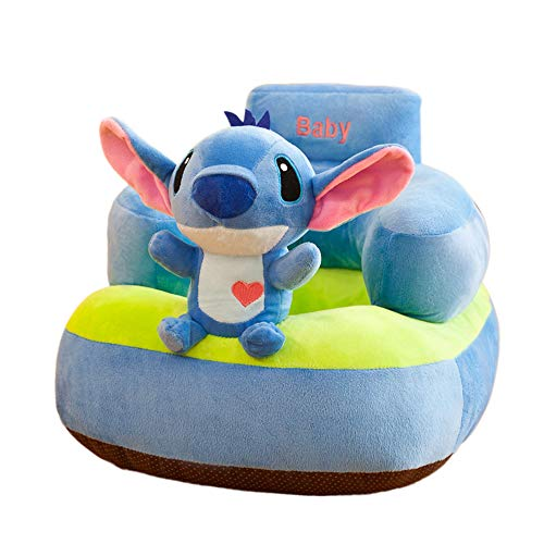 YAYT Cartoon Sedia per Bambini Animal Sweet Seats Kids Mini Lounger Sofa (45 × 50cm) Blue