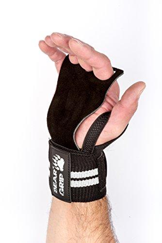 Bear Grip Guanti da crossfit, con protettore per il palmo della mano in pelle e supporto per il...