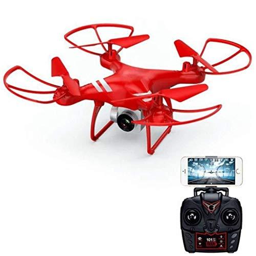 YSYYSH Drone HD Fotocamera con 9 Assi di precisione del giroscopio - Altezza Attesa, One Button decollo/atterraggio, Scorrimento 3D, App Controllo, Anti-Shake Imaging Mini Drone (Color : Red)