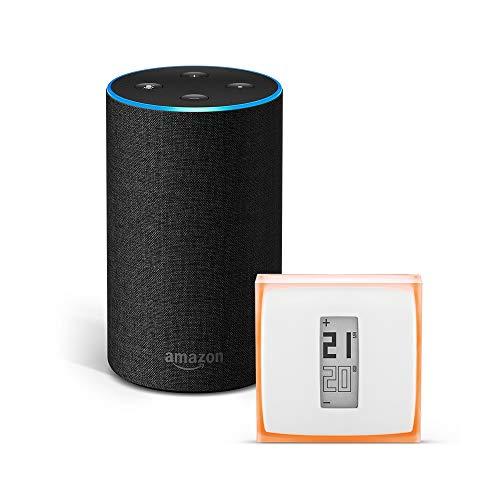 Amazon Echo (2ª generazione), tessuto antracite + Termostato Intelligente Netatmo