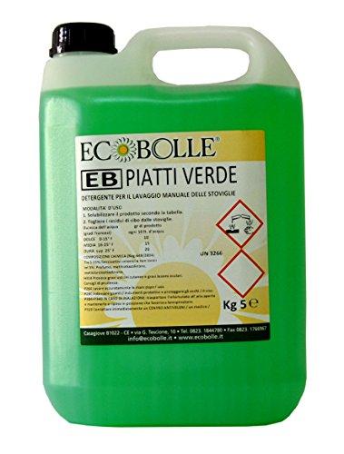 ECOBOLLE Sapone Liquido Lavapiatti Professionale Concentrato 5KG