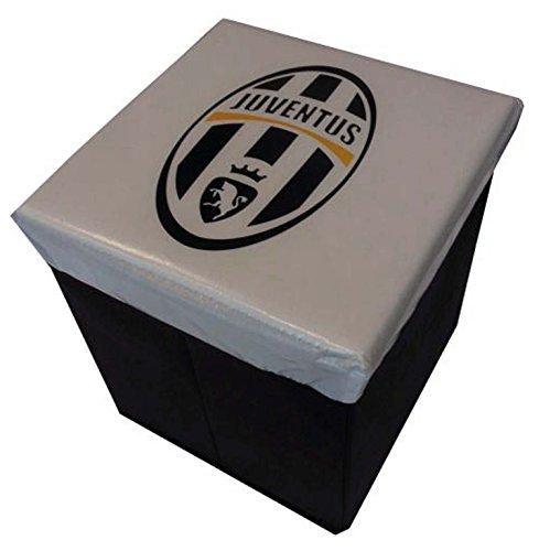 Juventus Pouf Contenitore, Bianco, 31x31x33 cm, 6 unità