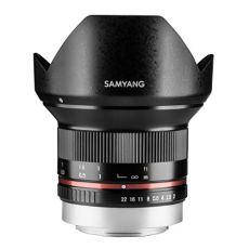 Samyang F1220510101 - Objetivo fotográfico CSC-Mirrorless para Fuji X (distancia focal fija 12mm, apertura f/2-22 NCS CS, diámetro filtro: 67mm), negro