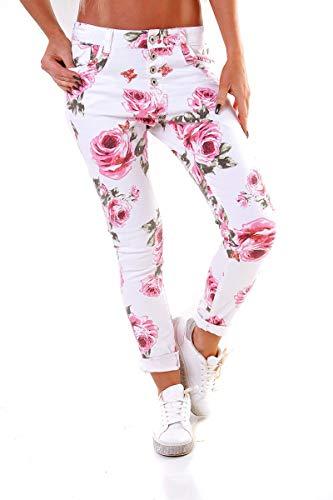 OSAB-Fashion 10255 LEXXURY Damen Hose Skinny Chino Treggings Stretch...