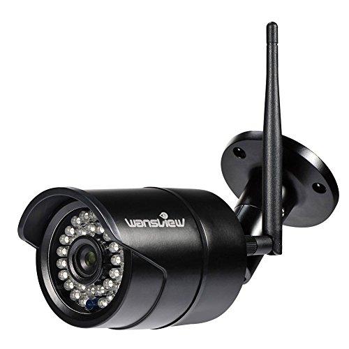 Wansview Caméra de Surveillance, 1080P Caméra IP Extérieur Wifi, Caméra Sécurité IP66 Etanche avec Vision Nocturne W2 - Noir