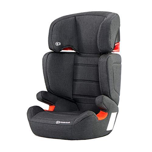 Kinderkraft Seggiolino Auto JUNIOR FIX con Isofix per Bambini Gruppo II/III (15-36 kg) Regolazione Poggiatesta a 7 Livelli con una Mano Certificato ECE R44/04 Nero