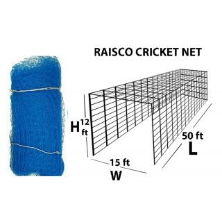 Raisco 50x12x15 Readymade Cricket Net with Roof (Blue)