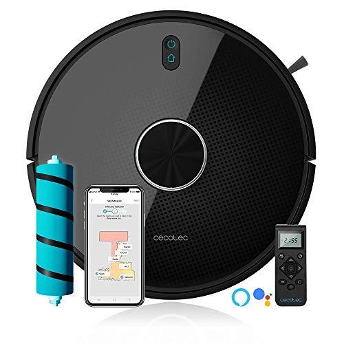 Cecotec 4090 Gestión y edición de habitaciones, APP con hasta 5 mapas, con Cepillo Jalisco y Mascotas, 2700 Pa, 10 modos, Conexión con Wi-Fi 5 GHz, Compatible con Alexa, Tecnología Láser