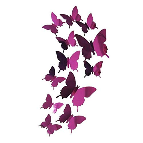 YWLINK Wall Stickers Decal Butterflies Arte De La Pared del Espejo 3D Decoraciones Caseras
