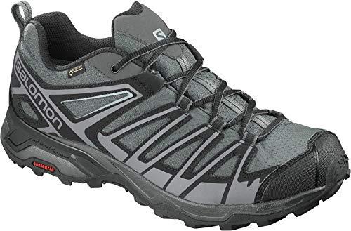 Salomon X Ultra 3 Prime GTX, Zapatos de Senderismo y Multifunción para Hombre, Gris Magnet/Black/Quiet Shade, 44 2/3 EU