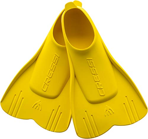 Cressi Mini Light Fins, Pinne Corte per Snorkeling e Nuoto Unisex Bambini, Giallo, 29/31