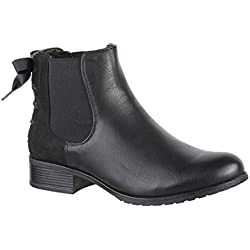 Elara , Boots Chelsea Femme - Noir - Noir, 39 EU