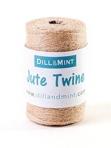 Bobina de yute Dill and Mint, 150m de cordel fuerte de 2mm, ideal para jardín, hogar y manualidades