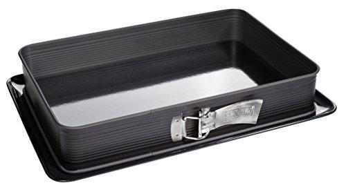 Zenker Lasagne apribile con spatolina 42x29x7,5 cm Deluxe, Stampo Rettangolare con Cerniera,...
