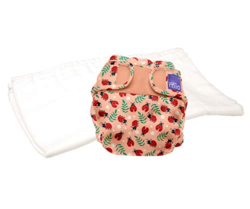 Bambino Mio, miosoft pannolino lavabile in due pezzi (kit di prova), coccinelline carine, taglia 1 (