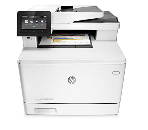 HP Stampanti Office Color LaserJet Pro MFP M477FDN Stampante Laser Multifunzionale, Bianco