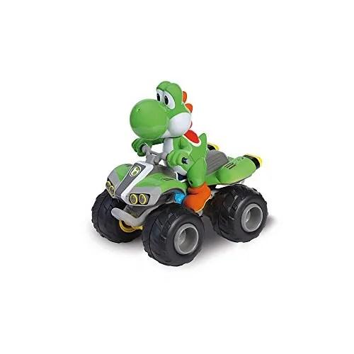 Carrera RC - Nintendo Mario Kart 8 Yoshi, coche con radiocontrol, 2.4 GHz, escala 1:20 (370200997)