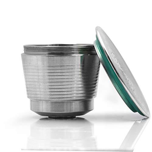 Konesky Capsule di Caffè Tazza in Acciaio INOX Metallo Riutilizzabile Capsule Ricaricabili per Casa...