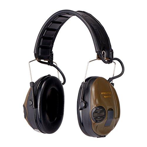 3M Peltor SportTac Gehörschutz grün - Intelligente Ohrschützer mit effektiver Schalldämmung speziell für Jäger & Sportschützen - Dynamische Geräusch-Regelung - SNR = 26dB