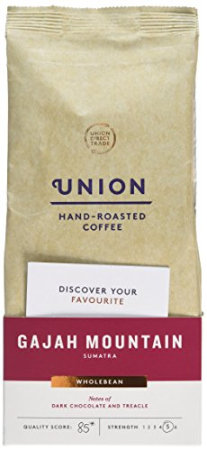 Union Gajah Mountain coffee beans (a peaty flavour, rich flavour coffee with aromas of spices and tobacco)