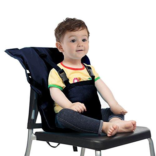Bambino Seggiolone Coprisedile Viaggio Imbracatura di Sicurezza Portatile Infantile Sacco Cintura,Blu Scuro