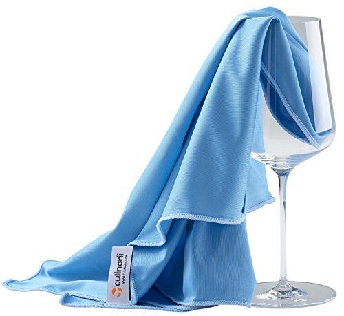 culiclean Panno in Microfibra per la Pulizia di Bicchieri, di Vetri e Multiuso (1 Panno 40x60cm,...
