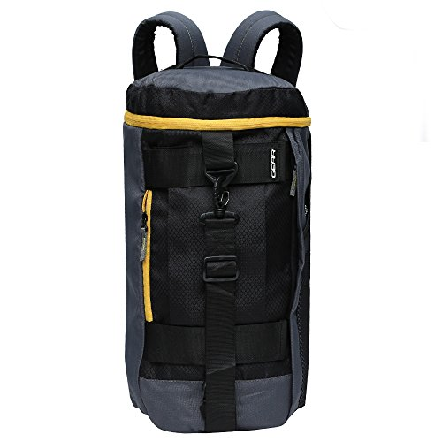 Gear Polyester 45 cms Grey and Yellow Travel Duffle (New MAXIS DUFFELL Cum Backpack) (METDFNMXS0412)