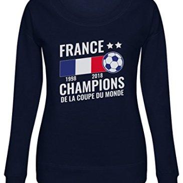 Green Turtle T-Shirts France Vainqueur Coupe du Monde de Football 2018 Sweatshirt Femme