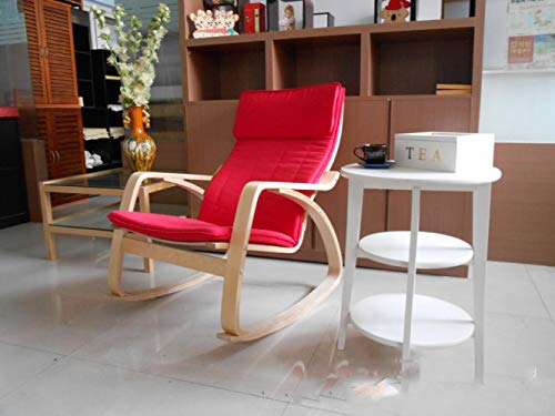 Pigro Poltrona Singola Girevole Sedia Piccolo Appartamento Balcone Lounge Chair Camera da Letto,Rosso,675 * 900 * 900