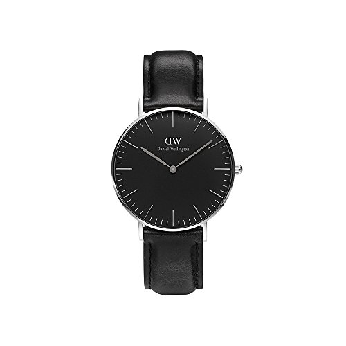 Daniel Wellington Unisex Analog Quarz Uhr mit Leder Armband DW00100145